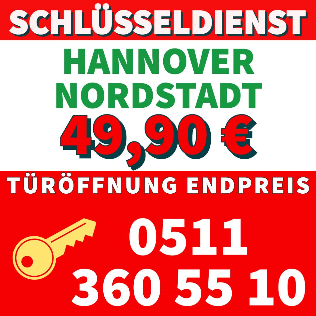 Schlüsseldienst Hannover Nordstadt Festpreis 49,90€